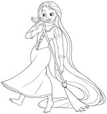 Small Picture Disney Princess Coloring Pages Rapunzel Cutesecretsme