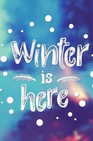 winter is here snow typography iphone 5 wallpaper