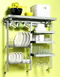 wall dish rack wall shelves for dishes remarkable dish drainer small space minimalist home furniture design