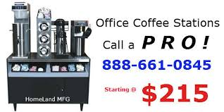 office coffee stations. Homeland Manufacturing, Inc Office Coffee Stations