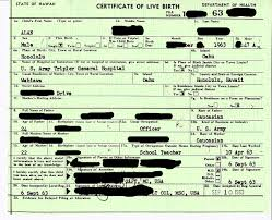 Hawaii Birth Certificate 1963 Snarkybytes