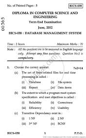 database management system engineering and  database management system 2012 engineering and technology computer science and engineering diploma