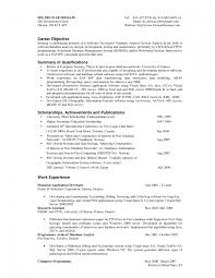 Resume Example Objective Best Of Sample Objective On Resumes R Sevte