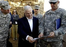 u s department of > photos > photo essays > essay view u s secretary robert gates receives a tour of one of the structures next to the