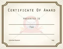 certificate of recognition templates simple certificate of award template sample with gold border line