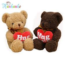 2019 cute plush teddy bear with red heart valentine s gift for children birthday gift toys stuffed 38cm from yohkoh 26 24 dhgate