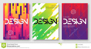 Cool Cover Designs Abstract Gradient Geometric Cover Designs Stock Vector