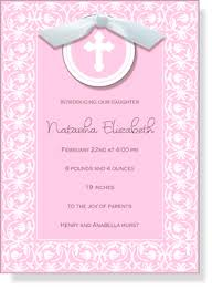 Imprintable Baptism Invitations Babies Children Baptism Communion Invitations Pink Cross Die Cut