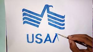 How To Draw The United Services Automobile Association Usaa Logo