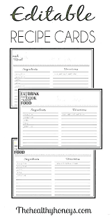 Index Cards Word Template 3 X 5 Recipe Cards Recipe Index Cards Recipe Card Template 5 Editable