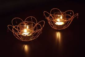 Decorative Candle Holders Hand Crafted Wire Wrapped Decorative Votive Candle Holders By