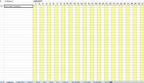 Free Employee Attendance Calendar 2016 Calendar Template 2019