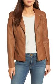 kut from the kloth aniya faux leather jacket camel faux leather moto jackets