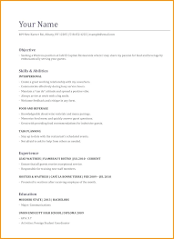 New Resume Examples Waitress Resume Examples 70