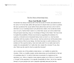 does god really exist gcse religious studies philosophy  document image preview