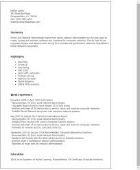 It Resume Objective Entry Level Network Technician Resume It