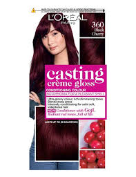 Loreal Hair Color Chart Prices Black Cherry Red Hair Dye Colour 360 Black Cherry Red