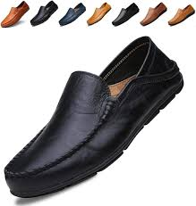com go tour men s premium genuine leather casual slip on loafers breathable driving shoes fashion slipper loafers slip ons