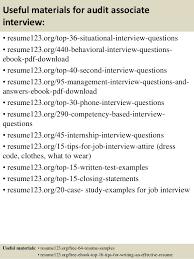 Sample Auditor Resumes Top 8 Audit Associate Resume Samples
