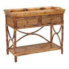rattan console table. Timeless English Serving Console Table Rattan Y