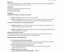 Resume High School Resume Objective For Student Lovely Exceptional
