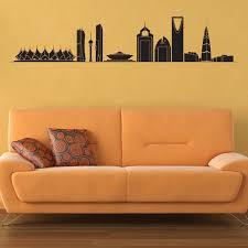 riyadh skyline wall sticker saudi