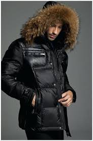 moncler jackets for men nylon puffer jacket with fur hood