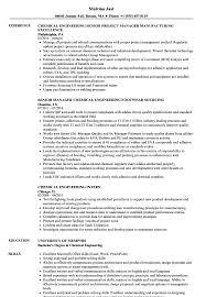 Chemical Engineer Resume Entry Level Chemical Engineering Resume
