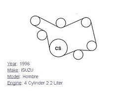 isuzu hombre cylinder l serpentine belt diagram 1996 isuzu hombre 4 cylinder 2 2l serpentine belt diagram