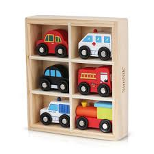 Wooden Toys Cars Bus Engine Emergency Vehicles Educational Early Learn \u2013 NimNik Baby Products