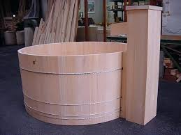 traditional japanese wooden bathtub bath hot tubs beautifully hand crafted out of cedar