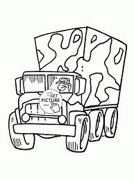 Small Picture Cartoon Military Truck coloring page for kids transportation