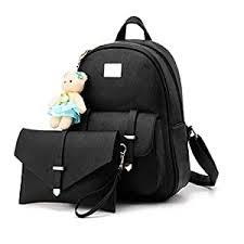 Redlicchi <b>Girls 2</b>-<b>PCS Fashion</b> Backpack Cute Mini Leather ...