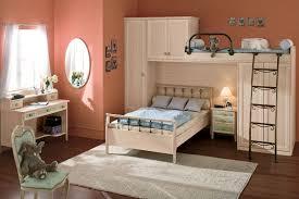 Frische Farben Orang Wände Kleines Schlafzimmer Design Ikea Weiß