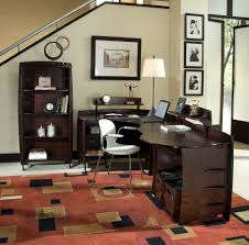 red black home office. Marvelous Design Of The Home Office Ideas With Red Rugs Brown Wooden Cabinets And Black W