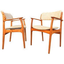 dining room chairs patina decor pair of danish modern erik buch no 49 armchairs o d mobler denmark