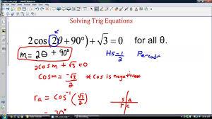 solving trigonometric equations with cast rule