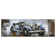 yosemite home decor blue vintage car by unknown artist wooden