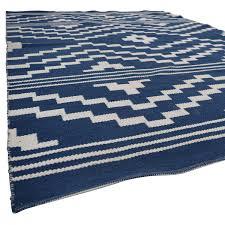 one kings lane blue and white flat weave rug one kings lane decor