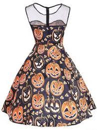 1950s <b>Halloween Pumpkin Dress</b> – Retro <b>Stage</b> - Chic Vintage ...
