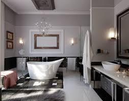 bathroom decorations interior elegant white bathroom design idea with wonderful bathtub and luxurious crystal chandelier beauteous