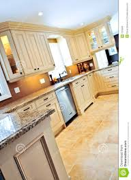 Modern Kitchen Tile Flooring Modern Kitchen With Tile Floor Stock Photo Image 7250680