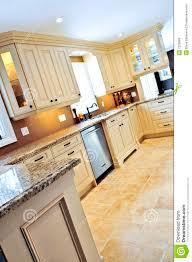 Modern Kitchen Tile Flooring Modern Kitchen With Tile Floor Stock Photo Image 7250680