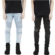 <b>High quality</b> represent clothing designer pants <b>blue</b>/<b>black</b> destroyed ...
