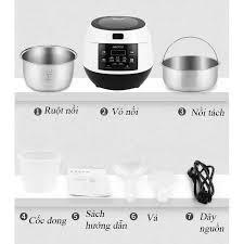 Nồi cơm điện, nồi cơm điện tử tách đường đa nằng Yoice 3 Lít - Lòng nồi inox  304 chống dính - Nồi cơm điện Nhãn hàng No Brand