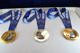 Олимпийские истории медали из чистого золота вручались лишь раз  Медали зимней Олимпиады 2014 Фото РИА Новости Алексей Никольский