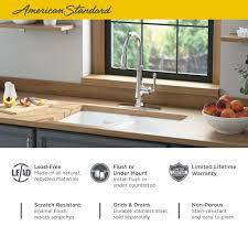 Delancey 30 X 19 Double Bowl Cast Iron Kitchen Sink American Standard