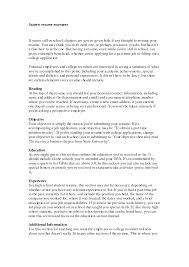 Brilliant Ideas Of High School Student Resume Objective Examples