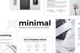 Powerpoint Theme Templates Free The Top 27 Free Minimal Powerpoint Templates 2019