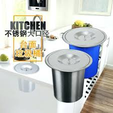 countertop trash can trash can with lid promotional embedded kitchen trash can stainless steel cabinet countertop trash